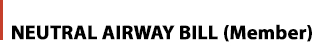 airway bill member